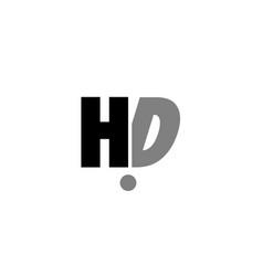 Hd h d black white grey alphabet letter logo icon vector