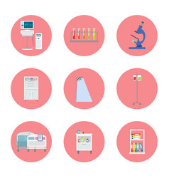 hospital equipment icons on vector image vector image