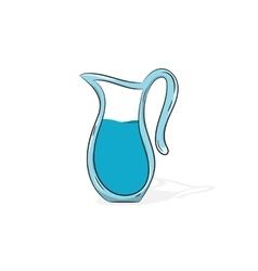Jug of water vector image vector image