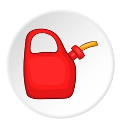 Plastic canister of gasoline icon cartoon style vector