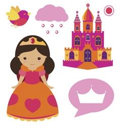 Princess clip art set vector image