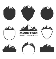 Retro mountain badges set vector image