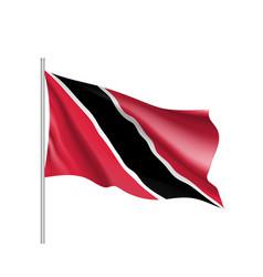 Waving flag of trinidad vector