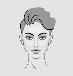 woman face eyes hairstyle makeup for beauty vector image vector image
