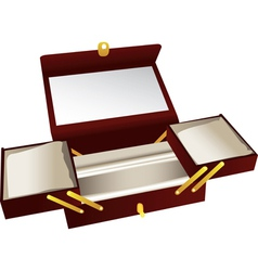 Wooden jewelry box vector image vector image