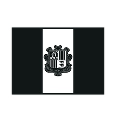 Flag of andorra vector