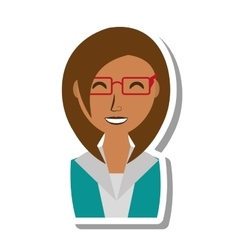 Businesswoman avatar elegant isolated icon vector