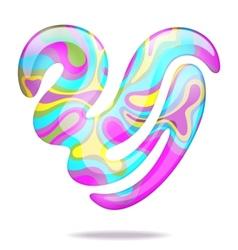 Abstract 3d heart vector