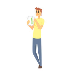 Man holding a kettle department store shopping vector
