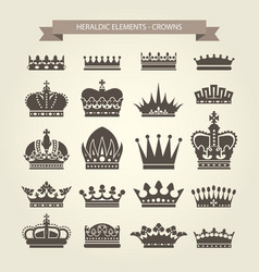 Heraldic crowns set - monarchy coronet blazon vector