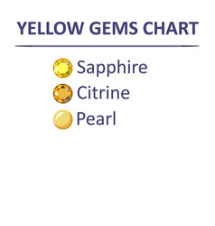 Gems yellow color chart vector