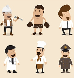 Group of people in different occupation vector