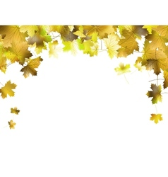 Border frame of colorful autumn leaves eps 10 vector