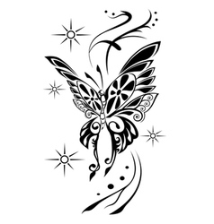 Butterfly tattoov vector