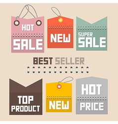 Colorful retro paper sale labels tags set - vector