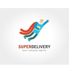 Abstract delivery logo icon concept logotype vector