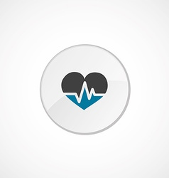 Heart pulse icon 2 colored vector