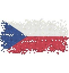 Czech grunge tile flag vector image