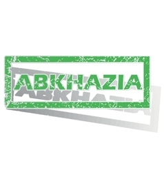 Green outlined abkhazia stamp vector