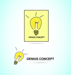 Light bulb genius concept logo icon vector