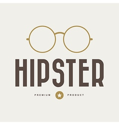 Vintage hipster badges and labels vector image