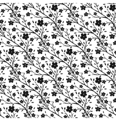 tiny flowers pattern Monochrome seamless vector image
