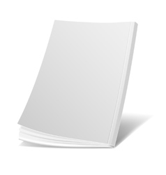 Blank flying white magazine cover book booklet vector