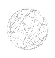 Abstract gray sphere vector image