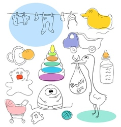 Baby collection vector image vector image