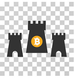 Bitcoin fortress icon vector