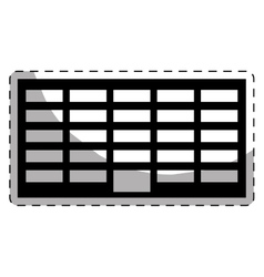 Black city office building line sticker vector