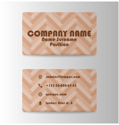 colorful visit card for business in individual vector image vector image