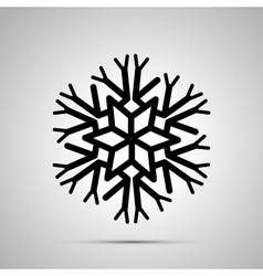 Complicated snowflake simple black icon vector