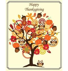 Fall tree thanks vector