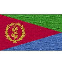 Flags Eritrea on denim texture vector image vector image