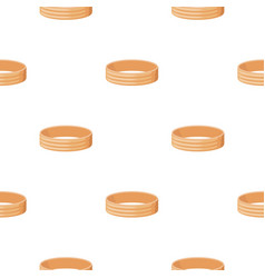 golden ring icon in cartoon style isolated on vector image