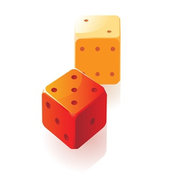 Isometric icon of dice vector image