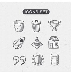 Miscellaneous symbols set vector