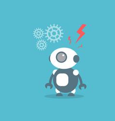 Modern robot artificial intelligence technology vector