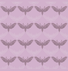 Night moth in mandala style violet background vector