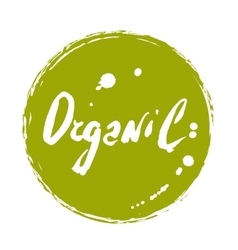 Organic hand drawn isolated label vector