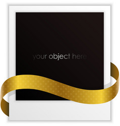 Polaroid ribbon vector