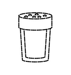 Salt bottle isolated vector