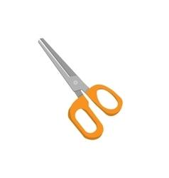 scissors in cartoon style vector image
