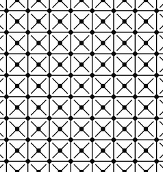 Seamless monochrome grid pattern vector