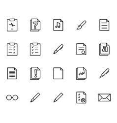 set of linear icons of various kinds of vector image vector image