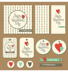 Set of valentines day cards vector