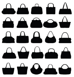 Silhouettes of purses vector image vector image