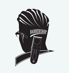 stylish barber shop vector image vector image