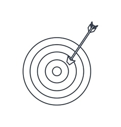 target with arrow isolated icon design vector image vector image